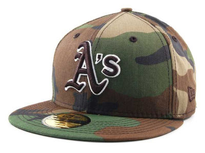Oakland Athletics New Era MLB BC Camo 59FIFTY Cap