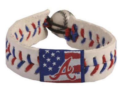 Atlanta Braves MLB Stars and Stripes Game Wear Bracelet