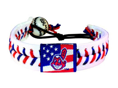 Cleveland Indians MLB Stars and Stripes Game Wear Bracelet