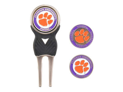Clemson Tigers Divot Tool and Markers