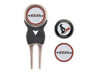 Houston Texans Divot Tool and Markers