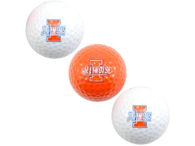 Illinois Fighting Illini 3-pack Golf Ball Set