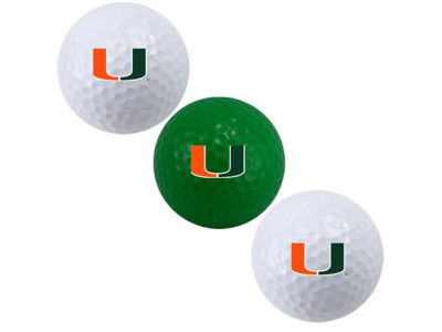 Miami Hurricanes 3-pack Golf Ball Set