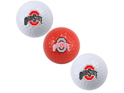 Ohio State Buckeyes 3-pack Golf Ball Set