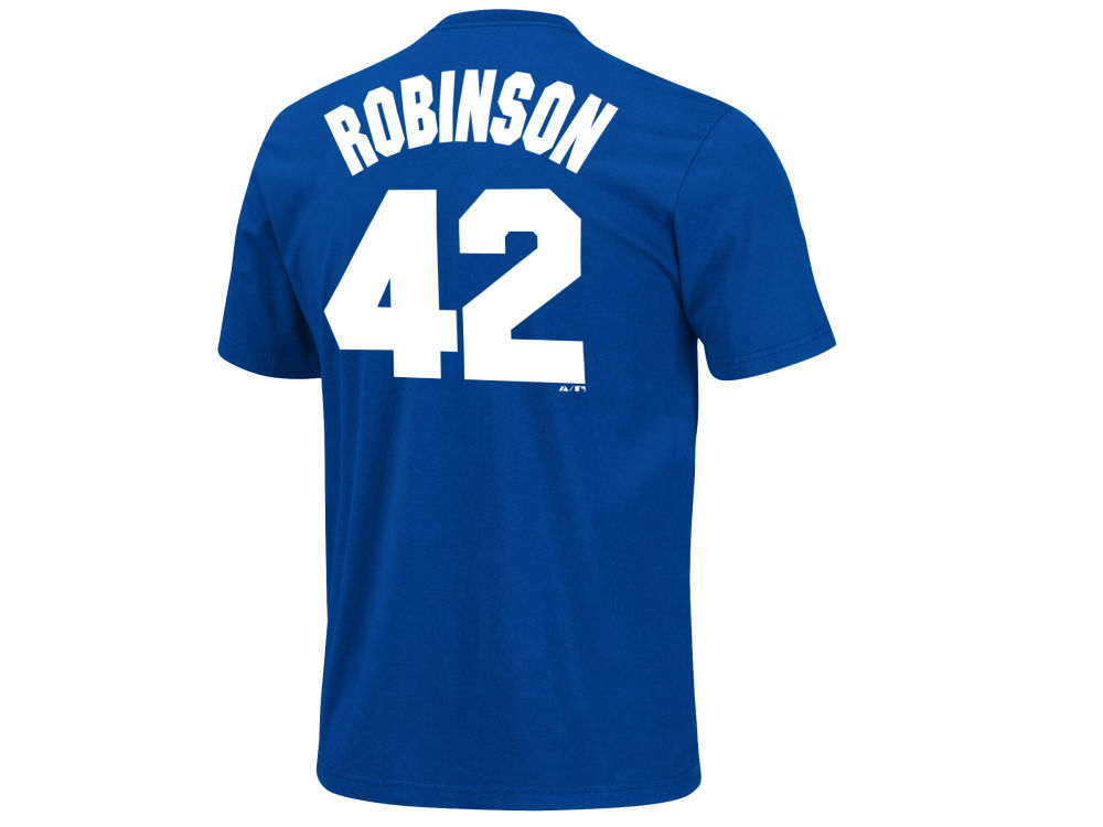 Los Angeles Dodgers Jackie Robinson Majestic MLB Men s Cooperstown Player T- Shirt  080832bd24a