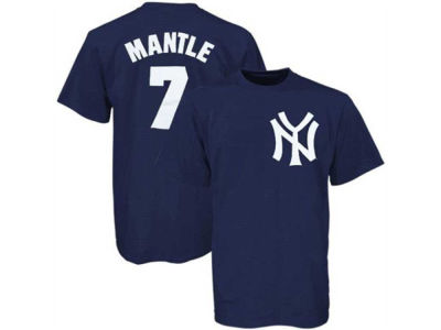 New York Yankees Mickey Mantle Majestic MLB Men's Cooperstown Player T-Shirt