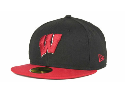 Wisconsin Badgers New Era NCAA 2 Tone 59FIFTY Cap