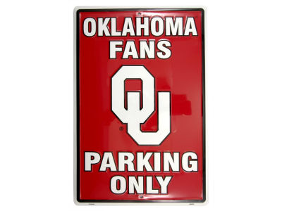 Oklahoma Sooners Parking Sign