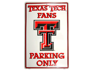 Texas Tech Red Raiders Parking Sign