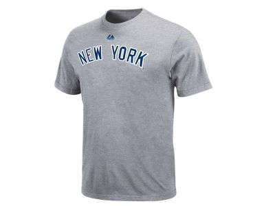 New York Yankees Majestic MLB Men's Official Road Wordmark T-Shirt