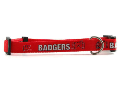 Wisconsin Badgers Medium Dog Collar