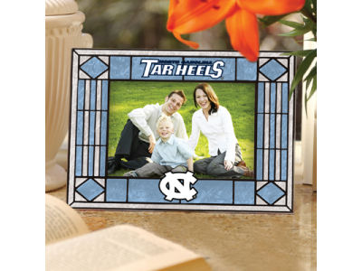 North Carolina Tar Heels Art Glass Picture Frame