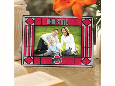 Ohio State Buckeyes Art Glass Picture Frame