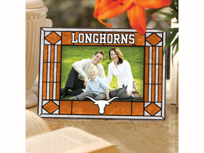 Texas Longhorns Art Glass Picture Frame