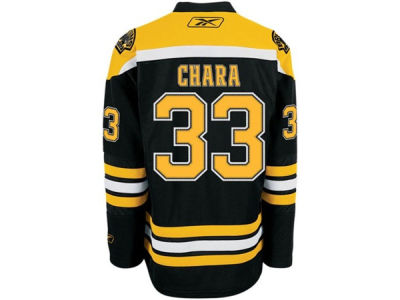 Boston Bruins Zdeno Chara Reebok NHL Premier Player Jersey