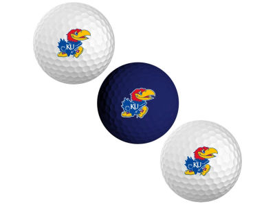 Kansas Jayhawks 3-pack Golf Ball Set