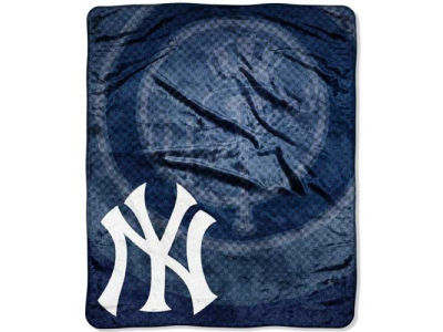 New York Yankees 50x60in Plush Throw Retro