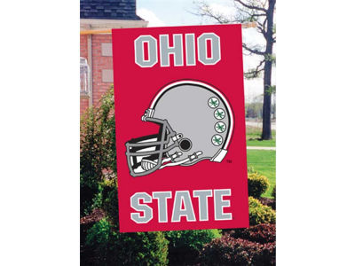 Ohio State Buckeyes Applique House Flag