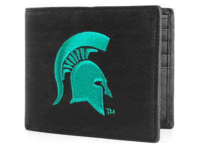 Michigan State Spartans Black Bifold Wallet