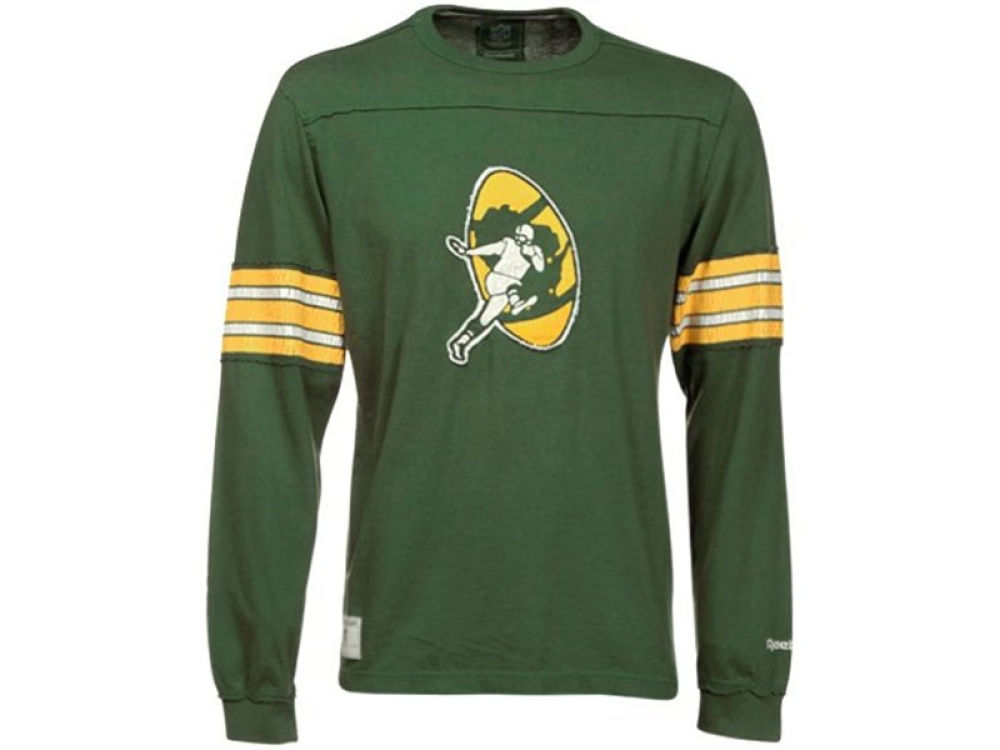 76b46fb1c907 Green Bay Packers Reebok NFL Vintage Long Sleeve Applique Crew T-Shirt