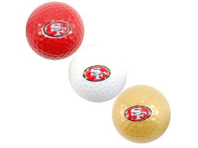 San Francisco 49ers 3-pack Golf Ball Set