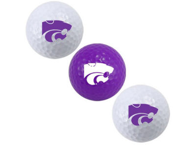 Kansas State Wildcats 3-pack Golf Ball Set