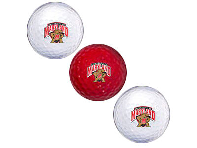 Maryland Terrapins 3-pack Golf Ball Set