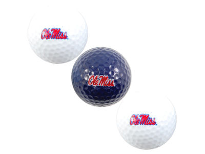 Ole Miss Rebels 3-pack Golf Ball Set