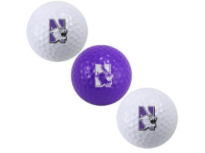 Northwestern Wildcats Team Golf 3-pack Golf Ball Set