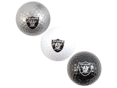 Oakland Raiders 3-pack Golf Ball Set