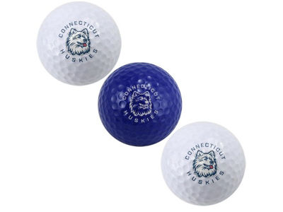 Connecticut Huskies Team Golf 3-pack Golf Ball Set
