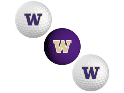 Washington Huskies Team Golf 3-pack Golf Ball Set