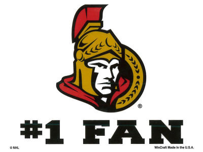 Ottawa Senators Static Cling Decal