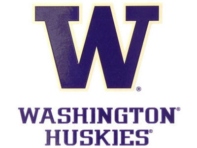 Washington Huskies Static Cling Decal