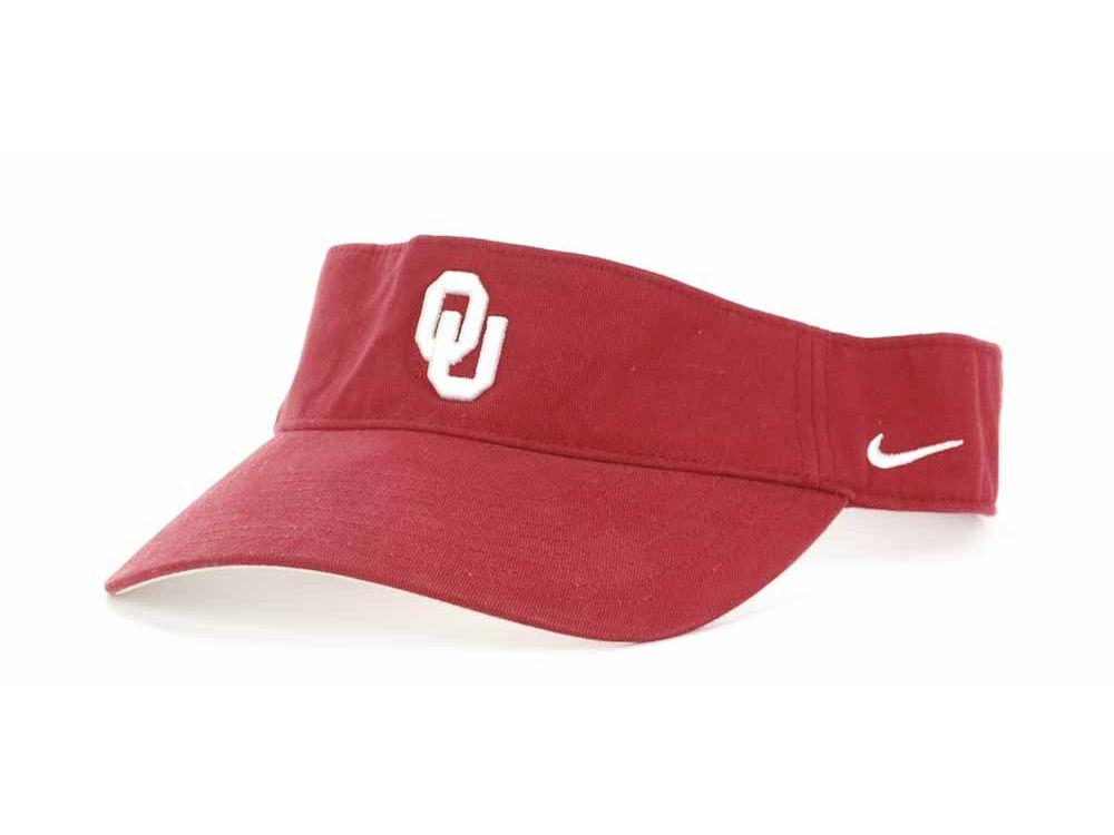 Oklahoma Sooners Nike NCAA Nike Team Sports Swoosh Visor  a060cf02ec0