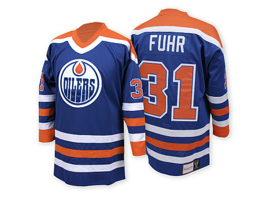 bf8d0cbb7 Edmonton Oilers Grant Fuhr Mitchell   Ness NHL Authentic Jersey ...
