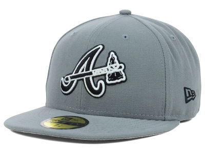 Atlanta Braves New Era MLB Gray BW 59FIFTY Cap