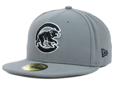 Chicago Cubs New Era MLB Gray BW 59FIFTY Cap