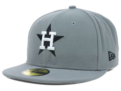 Houston Astros New Era MLB Gray BW 59FIFTY Cap