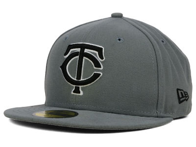 Minnesota Twins New Era MLB Gray BW 59FIFTY Cap
