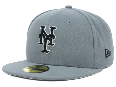 New York Mets New Era MLB Gray BW 59FIFTY Cap
