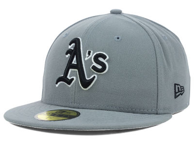 Oakland Athletics New Era MLB Gray BW 59FIFTY Cap