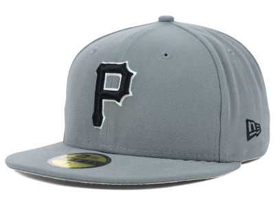 Pittsburgh Pirates New Era MLB Gray BW 59FIFTY Cap