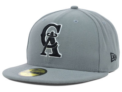 Los Angeles Angels New Era MLB Gray BW 59FIFTY Cap