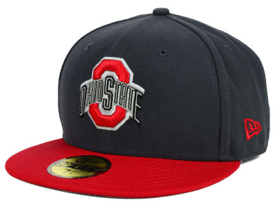 Ohio State Buckeyes New Era NCAA 2 Tone Graphite and Team Color 59FIFTY Cap