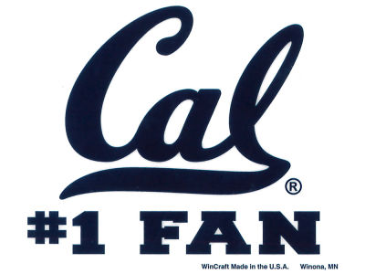 California Golden Bears Static Cling Decal