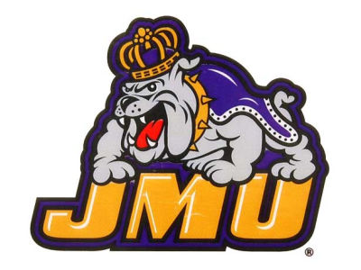 James Madison Dukes Static Cling Decal