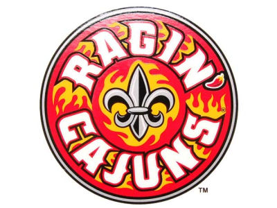 Louisiana Ragin' Cajuns Static Cling Decal