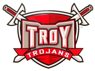 Troy University Trojans Static Cling Decal