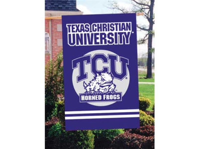 Texas Christian Horned Frogs Applique House Flag